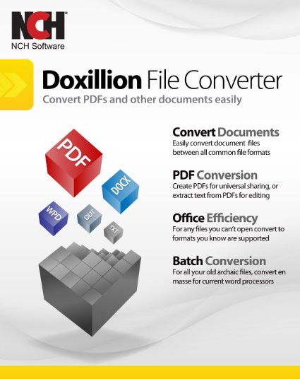 Download NCH Doxillion Document Converter Software