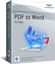 Download Wondershare PDF to Word for Mac Software