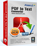 Download Aiseesoft PDF to Text Converter Software