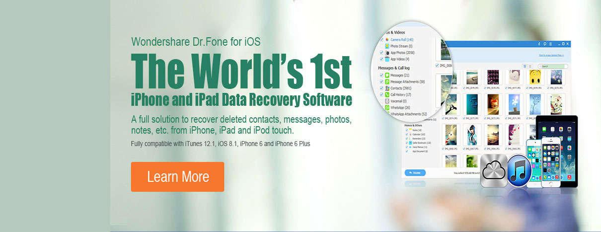 Wondershare Dr. Fone for iOS Data Recovery Software